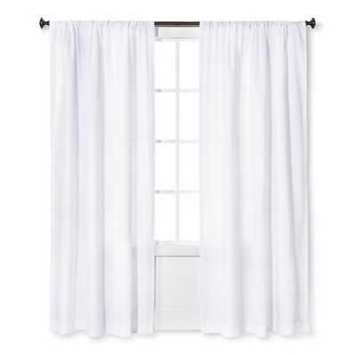 "Thresholdâ""¢ Farrah Curtain Panel-White-95"" - Target"