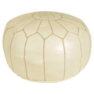 Boukra Pouf Ottoman - Cream - Wayfair