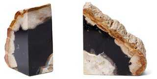 Pair of Petrified-Wood Bookends - One Kings Lane