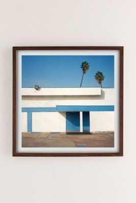 "George Byrne Malibu 2015 Art Print-16"" x 16"" -Framed - Urban Outfitters"