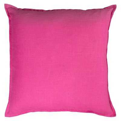 Rizzy Home Solid Decorative Pillow, Hot pink - 20.000L x 20.000W - Polyester fill insert - Target