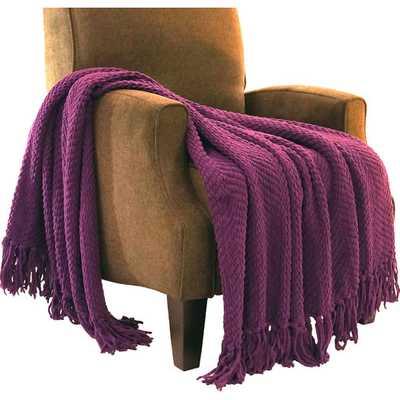 Tweed Knitted Throw Blanket - AllModern