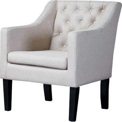 Baxton Studio Brittany Club Chair - Gray - Wayfair