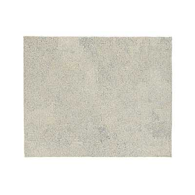 Trystan Blue Wool-Blend 8'x10' Rug - Crate and Barrel
