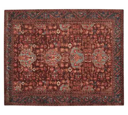 Aisha Printed Rug - Red -  5 X 8 - Pottery Barn
