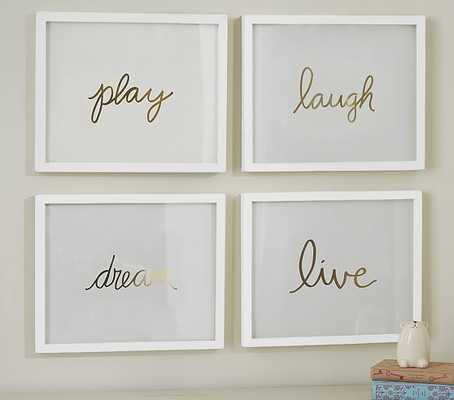 Gold Sentiment Inserts - Pottery Barn Kids