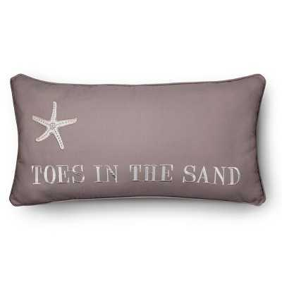 "Homthreadsâ""¢ Pismo Beach Toes in Sand Pillow - Brown (12""x24"")- Duck Feather fill insert - Target"