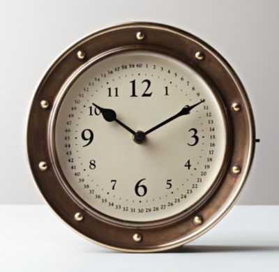 nautical brass clock - RH Baby & Child