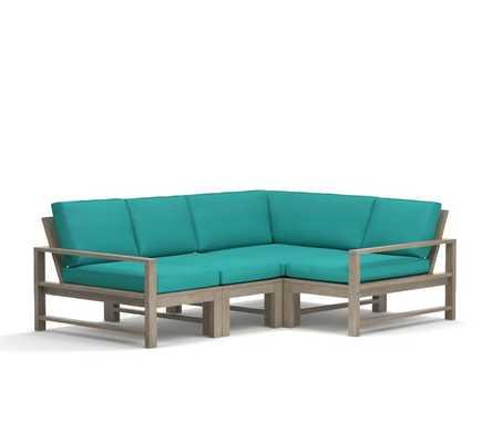 Indio Sectional Set- Sectional Cushions- 4-Piece- Aruba - Pottery Barn