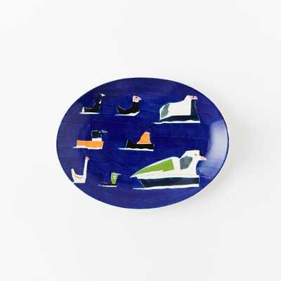 Collector's Editions Plates - Navy Mizuki Ducks - West Elm