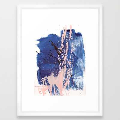 "brush strokes 3 - VECTOR WHITE MEDIUM (GALLERY) (20"" X 26"") - Society6"