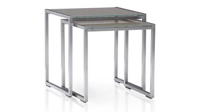 Dune Nesting Tables with Painted Glass Set of Two - Crate and Barrel