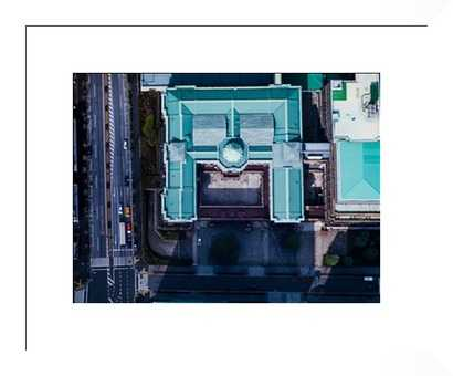 Aerial photos of The Bank of Japan; in Tokyo - Photos.com by Getty Images