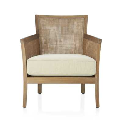 Blake Grey Wash Chair with Fabric Cushion - Sand - Crate and Barrel