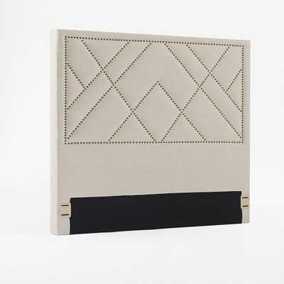 Patterned Nailhead Headboard - Upholstered-King-Natural - West Elm