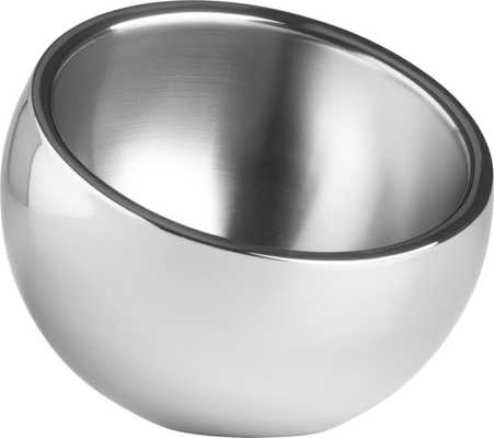 stainless steel snack bowl - CB2