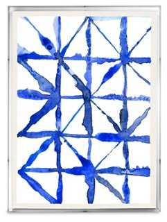 Ayelet Iontef, Indigo Textile II - 24x18, Framed - One Kings Lane