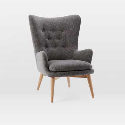 Niels Wing Chair - Salt+Pepper - West Elm