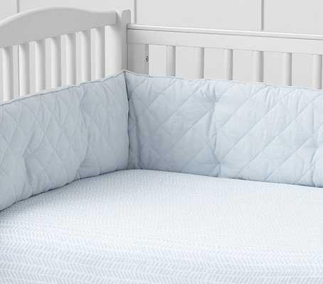 Crib Fitted Sheet - CHEVRON - LIGHT BLUE - Pottery Barn Kids