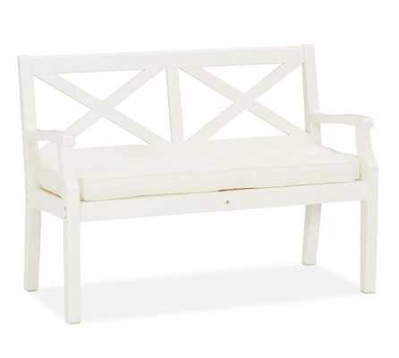 Hampstead Painted Porch Bench - White - Pottery Barn