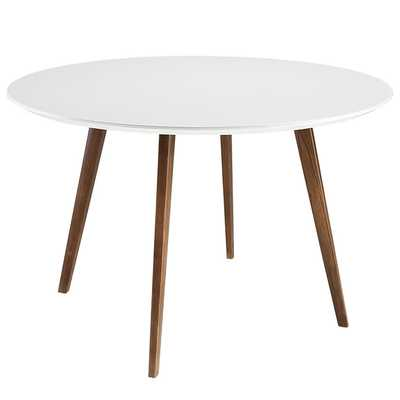 PLATTER DINING TABLE IN WHITE - Modway Furniture