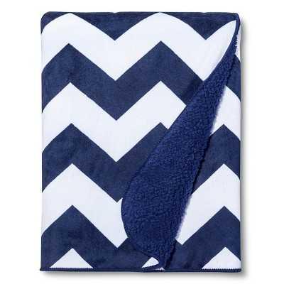 "Circoâ""¢ Valboa Baby Blanket - Navy Chevron - Target"