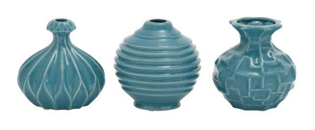 The Blue Ceramic Vase 3 Assorted - Houzz
