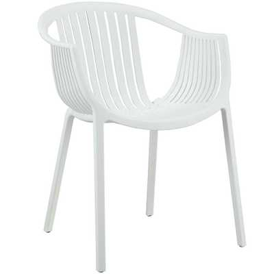 Hammock Dining Armchair in White - Domino