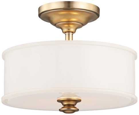 """Harbour Point 13 1/2"""" Wide Liberty Gold Ceiling Light - Lamps Plus"""