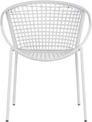 Sophia silver dining chair - CB2