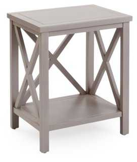 Lucas Cross-Back End Table, Taupe - One Kings Lane