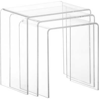 Clear Acrylic Nesting Tables (Set of 3) - Overstock