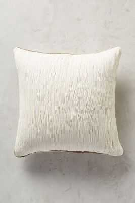 "Arrowwood Pillow, 18""Sq, Ivory, Polyfill Insert - Anthropologie"