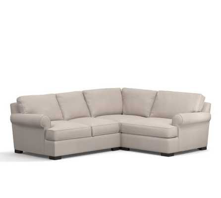 Townsend Upholstered Left Arm 3-Piece Corner Sectional - Pottery Barn