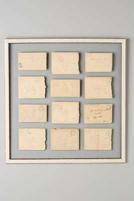 Love Notes Vintage Wall Art - 23x23 - Framed (distressed ) - Anthropologie