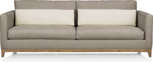 Taraval 2-Seat Sofa with Oak Base - Pewter - Crate and Barrel