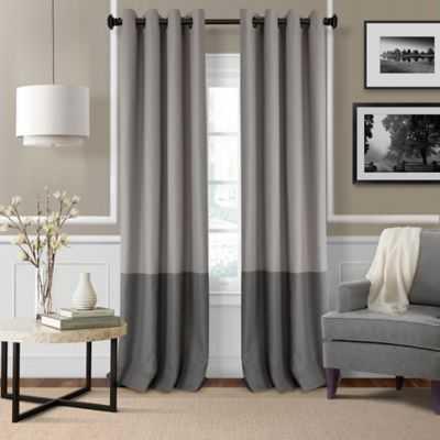 Elrene Braiden 95-Inch Grommet-Top Room-Darkening Window Curtain Panel in Grey - Bed Bath & Beyond