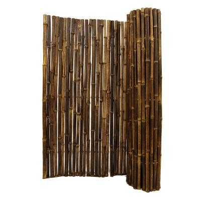 1 in. D x 3 ft. H x 8 ft. W Black Rolled Bamboo Fence - Home Depot
