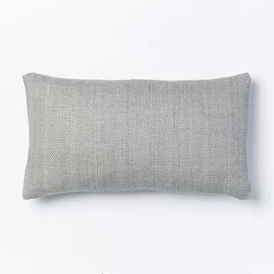 Silk Hand-Loomed Lumbar Pillow Cover - 12x21, No Insert - West Elm