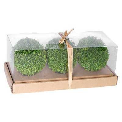 Artificial Topiary Balls in Box Set of 3 - Target