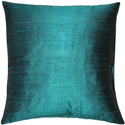 Sankara Juniper Green Silk Throw Pillow 20x20 - Pillow Decor