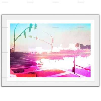 NEON LOS ANGELES -36x24-Framed - Oliver Gal