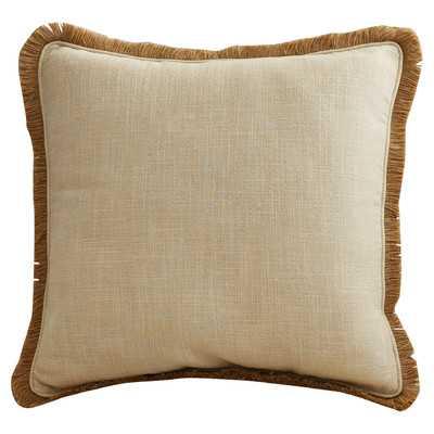 Ellery Linen Throw Pillow - Gold/Beige, 18x18, With Insert - Wayfair