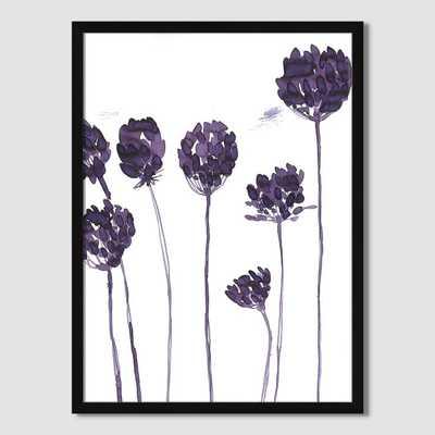 Roar + Rabbit Wall Art - Floral Silhouette 3 - Framed - West Elm