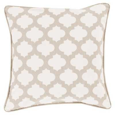 Morrocan Printed Lattice Toss Pillow - Ivory - 20sq. - Polyester Fill - Target