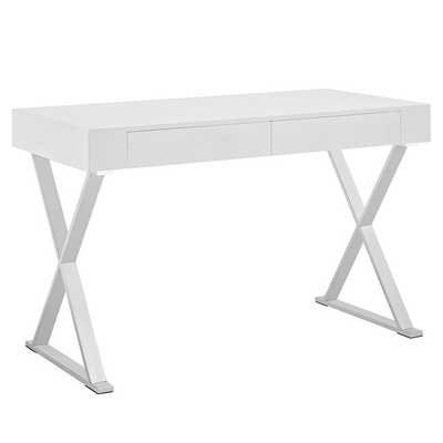 SECTOR OFFICE DESK IN WHITE - Modway Furniture