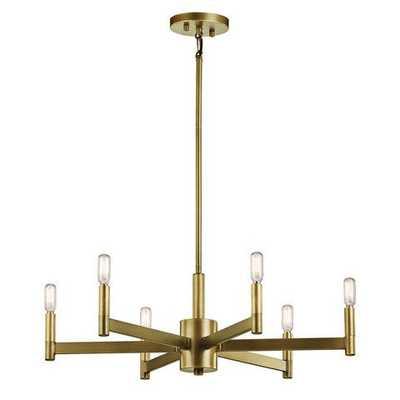 Erzo Chandelier - Natural Brass, 8 lights - lumens.com