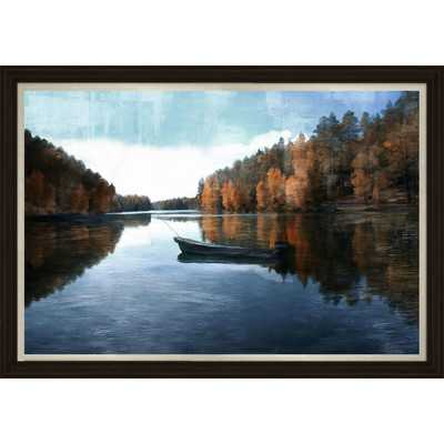 Lone Lake Framed Painting Print - Wayfair