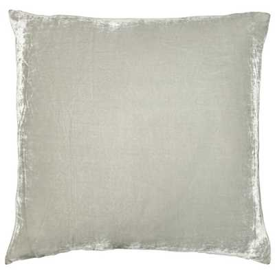 SILK VELVET DECORATIVE PILLOW SILVER - Insert Sold Separately - HD Buttercup