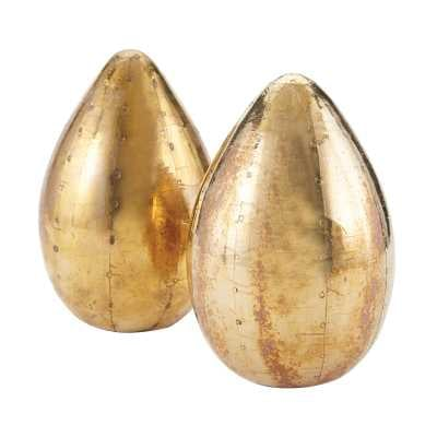 Pale Gold Metallic Egg (Set of 2) - Rosen Studio
